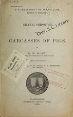 Chemical composition of the carcasses of pigs