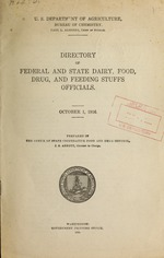 Directory of federal and state dairy, food, drug, and feeding stuffs officials
