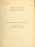 A digest of the literature on DDT through April 30, 1944