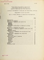 A review of information on anabasine and nornicotine, 1938-1944