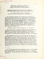 Experiments with DDT for the control of the European corn borer infesting sweet corn at Toledo, Ohio, in 1944