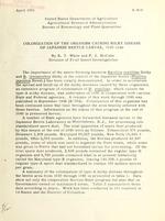 Colonization of the organism causing milky disease of Japanese beetle larvae, 1939-1949