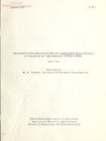 An annotated bibliography on Aphelinus mali (Hald.), a parasite of the woolly apple aphid, 1851-1950