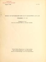 Bureau of Entomology and Plant Quarantine articles published in ...