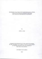Regression analysis of psychophysiological stress, cumulative trauma disorder symptoms, and cognitive performance decrement