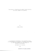 Testimonial literature and women's participation in social change in Nicaragua