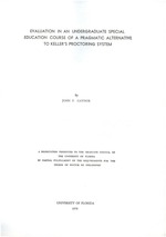Evaluation in an undergraduate special education course of a pragmatic alternative to Keller's proctoring system