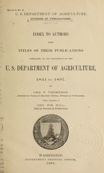 Index to authors with titles of their publications appearing in the documents of the U.S. Department of agriculture, 1841 to 1897