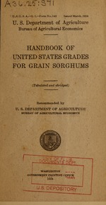 Handbook of United States grades for grain sorghums