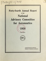 Annual report of the National Advisory Committee for Aeronautics