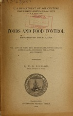 Foods and food control : revised to July 1, 1905