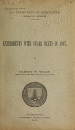 Experiments with sugar beets in 1897