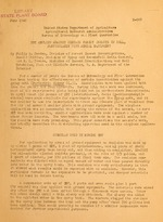 DDT applied against certain forest insects in 1944, particularly with aerial equipment