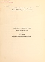 A third list of publications on DDT, January through June 1945