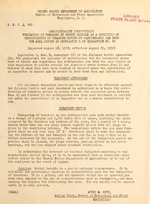 Administrative instructions : fumigation of tomatoes by methyl bromide as a condition of certification of tomatoes moving by refrigerator car from the area listed in regulation 5 of quarantine no. 48
