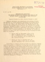 Administrative instructions : the shipment of fruits and vegetables from Hawaii to the mainland subject to sterilization under supervision is authorized