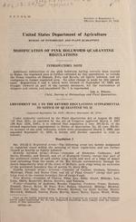 Modification of pink bollworm quarantine regulations