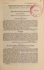 Pink bollworm quarantine : quarantine no. 52, revision of quarantine and regulations