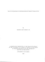 Solute transport in heterogeneous porous formations