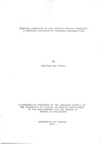 Temporal summation of the acoustic-reflex threshold
