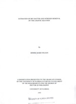 Estimation of dry matter and nitrogen removal by the logistic equation