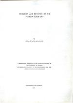 Ecology and behavior of the Florida Scrub Jay