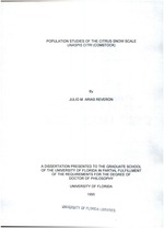 Population studies of the citrus snow scale Unaspis citri (Comstock)