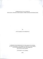 Comparative evaluation of strategic construction-market forecasting methodologies