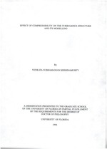 Effect of compressibility on the turbulence structure and its modelling