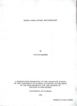 Diode laser atomic spectroscopy