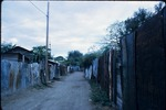 A street outside of Everald Brown's home in Kingston, Jamaica