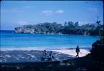 Beach goers on the East coast of Jamaica