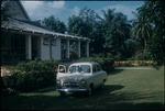 A car parked near the Rebellion Inn in Saint Mary, Jamaica