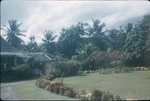 Dirt driveway and gardens of the Rebellion Inn in Saint Mary, Jamaica