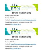 Social Media Sheet for THATCamp-Gainesville 2015