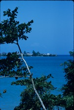 View of the town of in Lucea, Hanover, Jamaica from across the bay