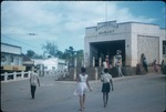 People outside the Mandeville Market in Jamaica