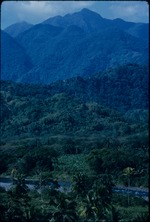 River and peaks of the Blue Mountains in Jamaica
