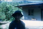 A woman wearing black in Moore Town, Portland, Jamaica