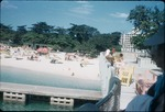 View of Doctor's Cave Beach and the terrace of Casa Blanca Beach Hotel
