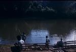 Rafts near the banks of Rio Grande River in Port Antonio, Portland, Jamaica