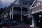 An automobile parked beside the Titchfield Hotel, Port Antonio, Portland, Jamaica