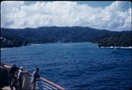 Mountain view from a passenger ship near Port Antonio, Portland, Jamaica