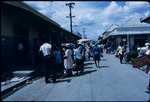 A busy street market in Spanish Town, Saint Catherine, Jamaica