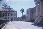 View of the former court house and the façade of the King's House in Spanish Town, Saint Catherine, Jamaica