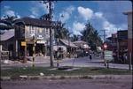 An urban street with retail shops in Ocho Rios, Saint Ann, Jamaica