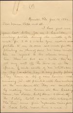 Correspondence of Pliny and Egbert Reasoner January-May 1886