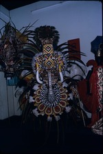 A feathered carnival costume on exhibit in the National Museum and Art Gallery of Trinidad and Tobago