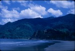 View of North Coast Road and the mountains near Maracas Bay