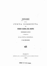 Informe de la junta directiva del Ferro-Carril del Oeste correspondiente al ano 1879 y presentado a la junta general de sus arrionistas